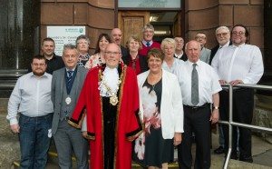 Ruthin Town Council with Mayor Jim Bryan and Deputy Mayor Ian Lewney